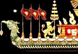royal palace illuminated float